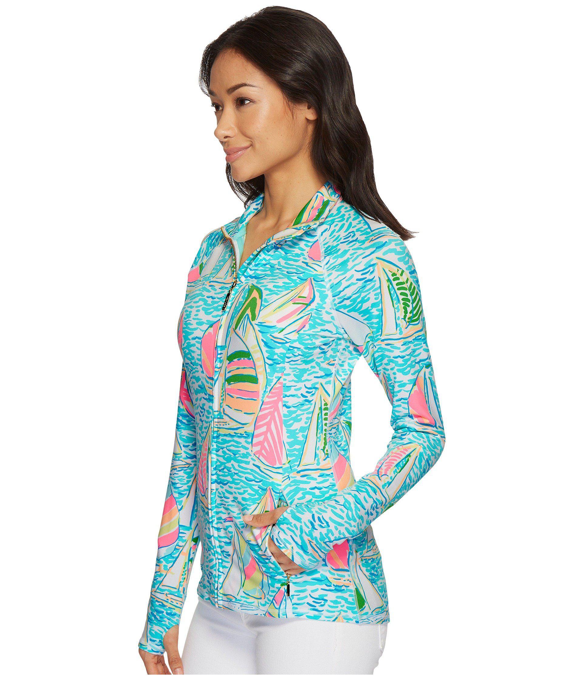 a56337e348423c Lilly Pulitzer Luxletic Serena Jacket (seaside Aqua U Gotta Regatta ...