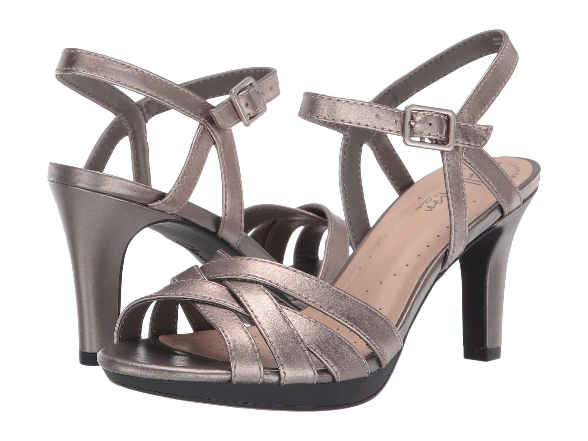 38d2095ab4e Clarks. Women s Adriel Wavy (pewter Leather) High Heels