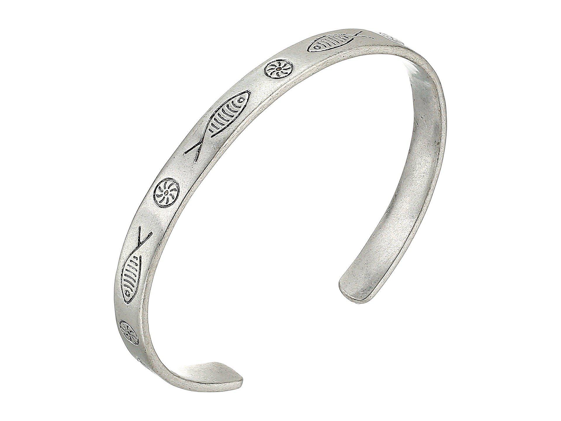 0a4a3f91c8b Lucky Brand Fish Etched Bracelet (silver) Bracelet in Metallic - Lyst
