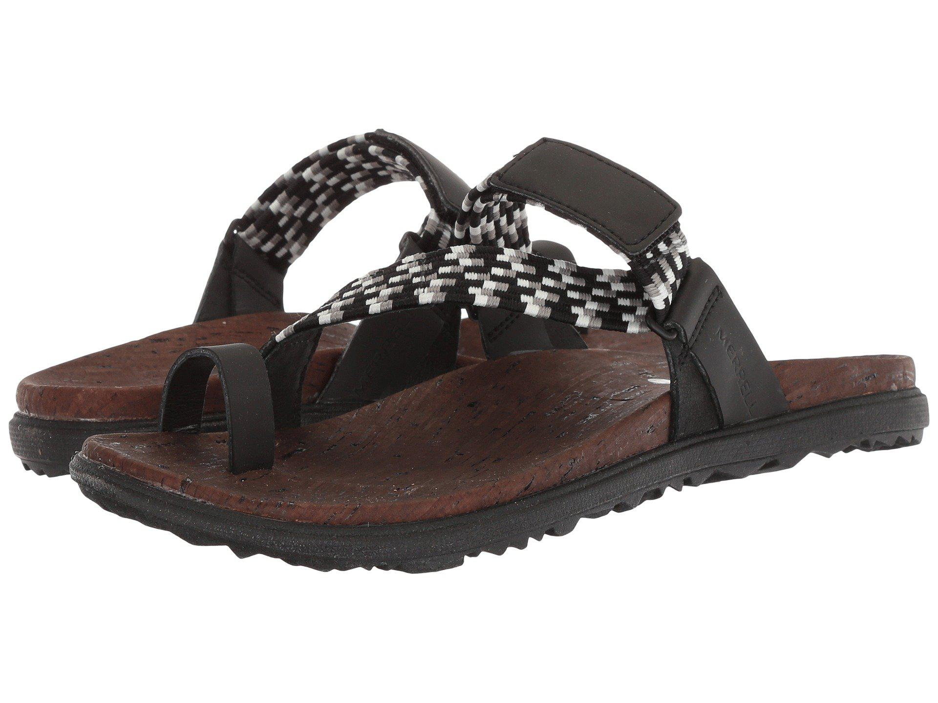 717494fa7 Lyst - Merrell Around Town Sunvue Thong Woven (black) Women s Shoes ...