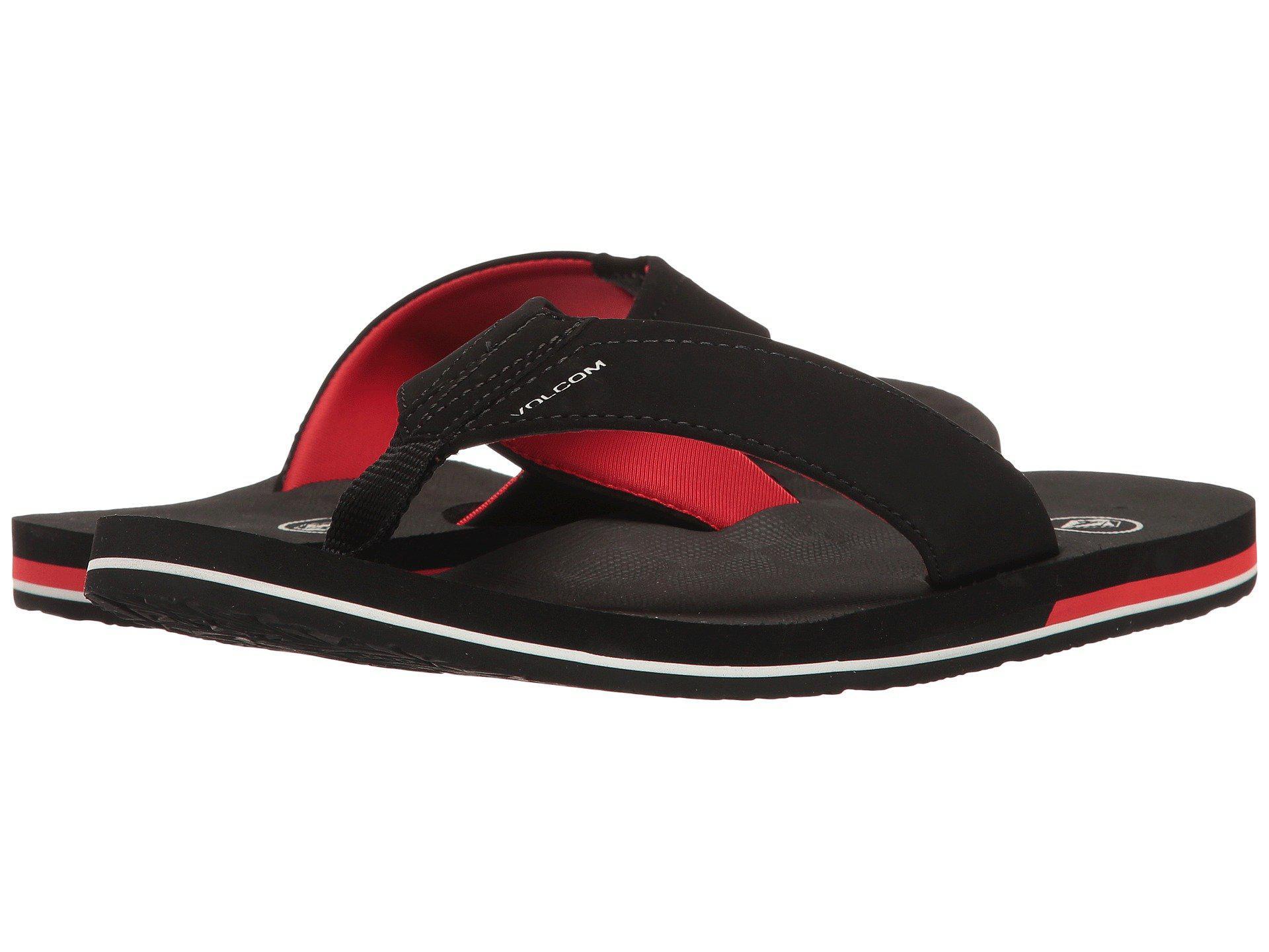 41f6e2938af93 Lyst - Volcom Victor (grey Vintage) Men s Sandals in Black for Men