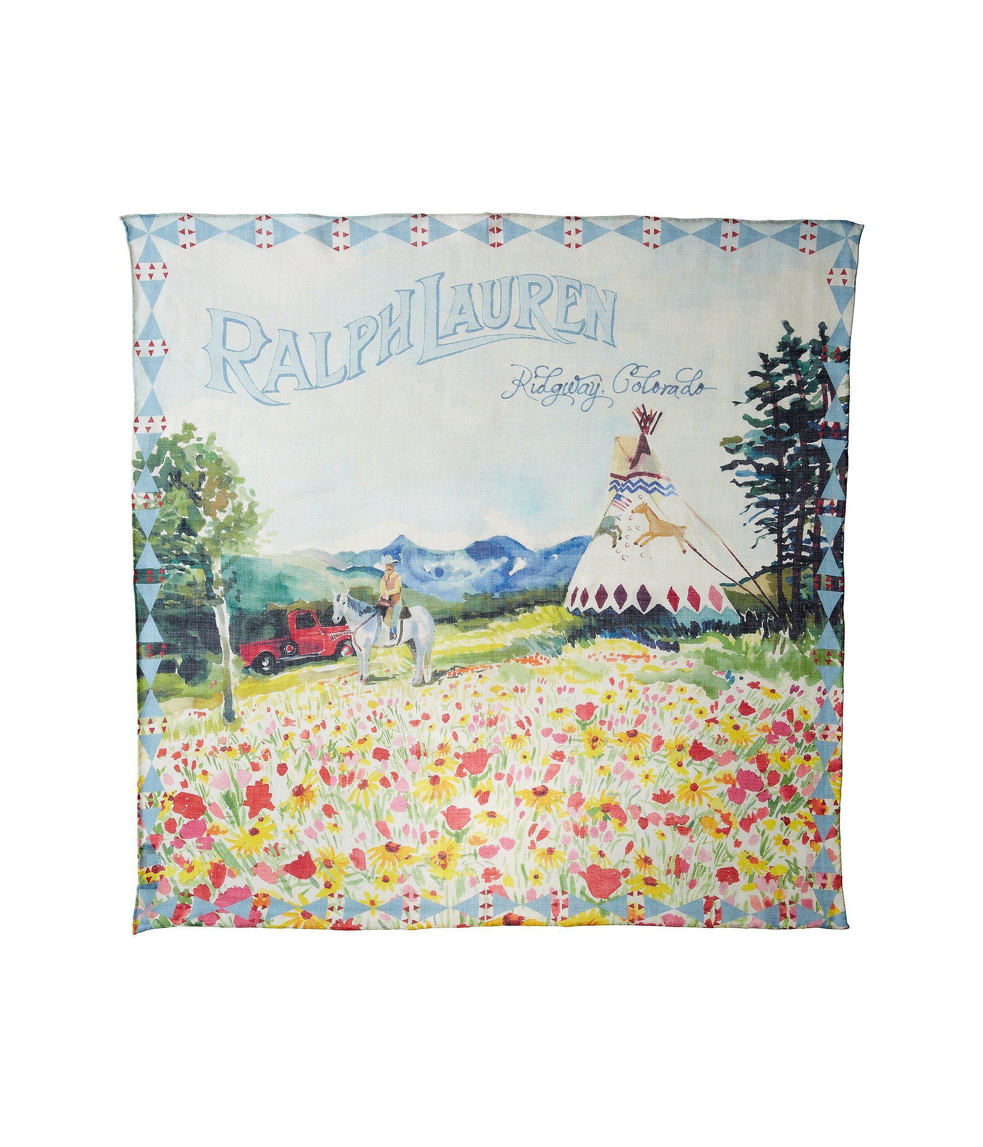 Lyst - Polo Ralph Lauren Ralph\'s Ranch Scarf (rustic Blue Multi ...