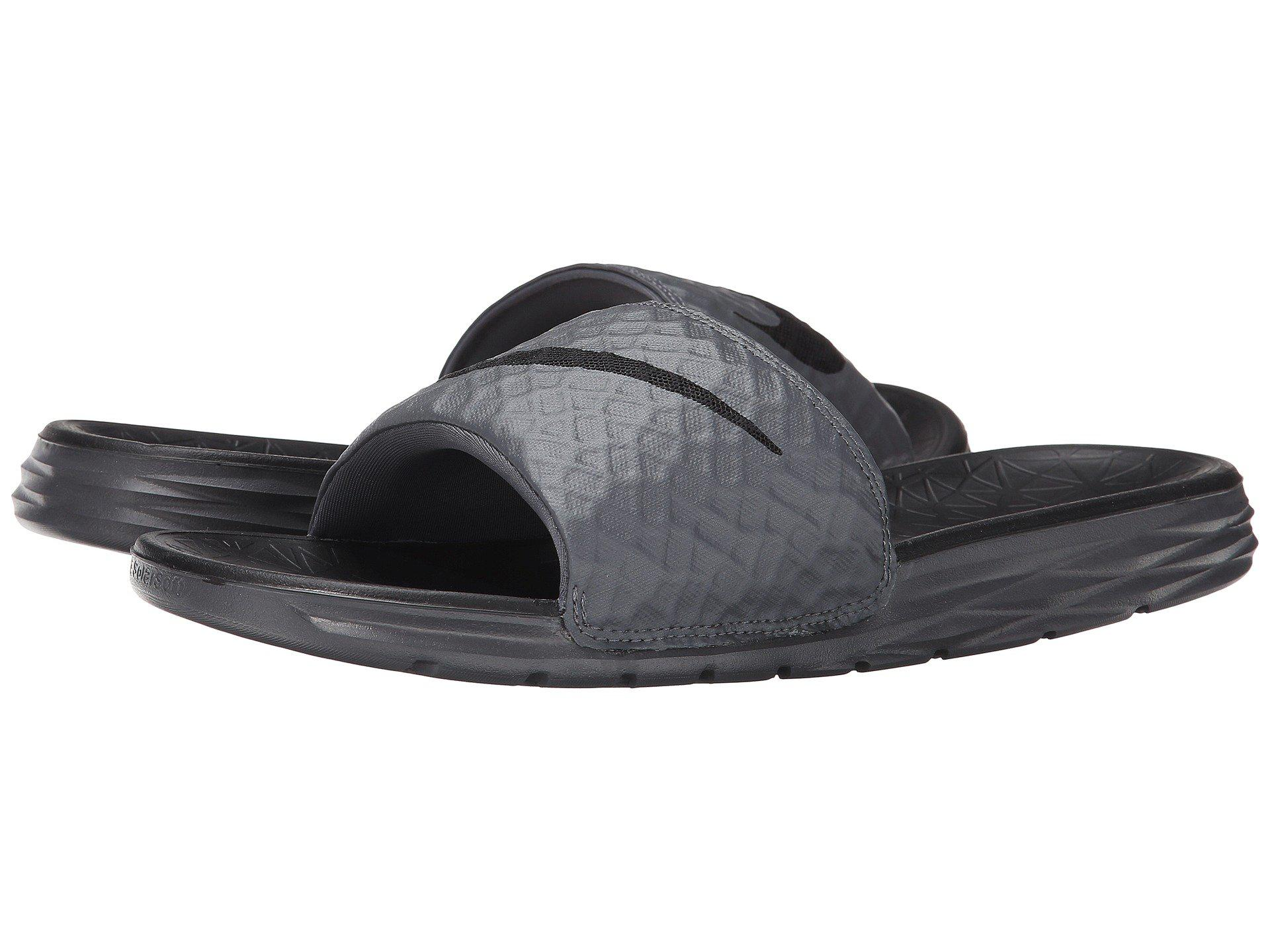 new style 4f9cc 49109 Nike. Gray Benassi Solarsoft ...