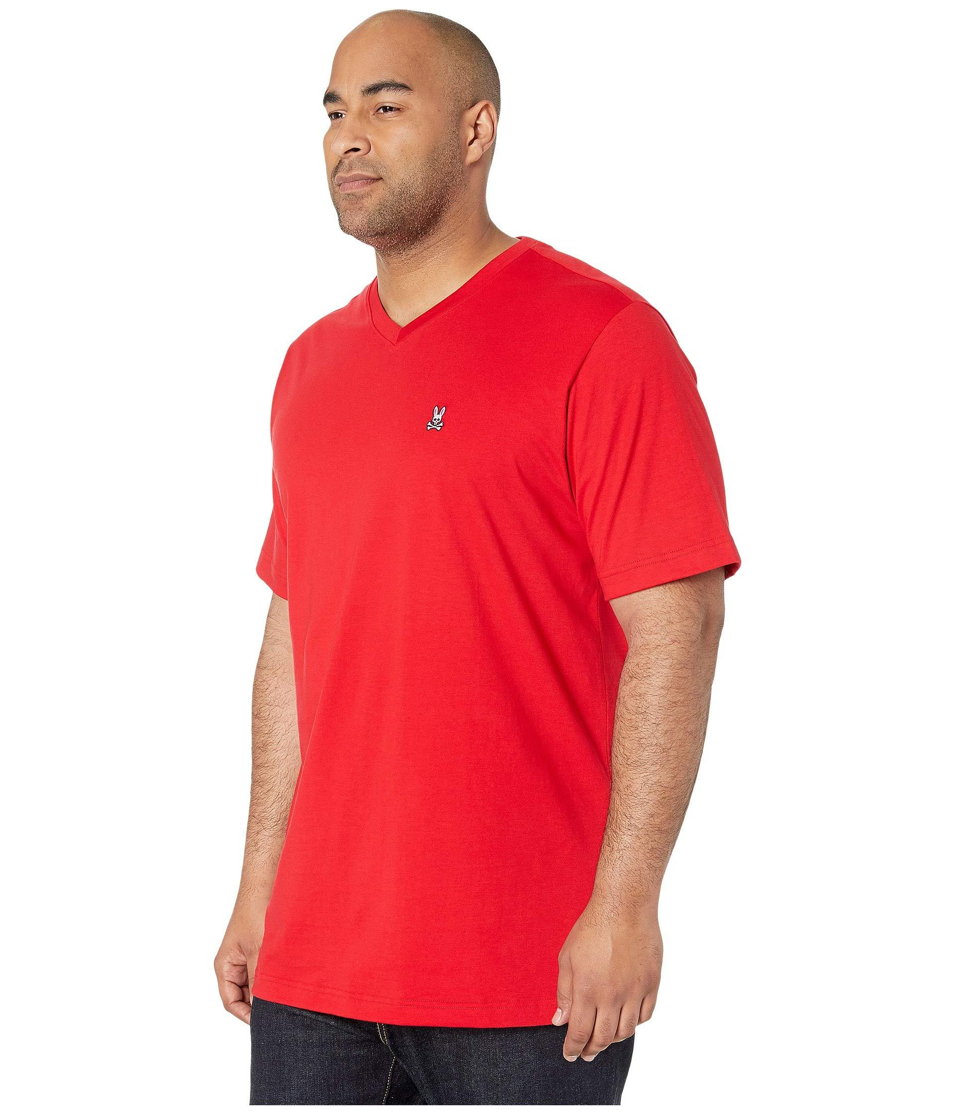 4337dc964c6 Lyst - Psycho Bunny Big Tall Classic V-neck Tee (cornflower) Men s Clothing  in Red for Men