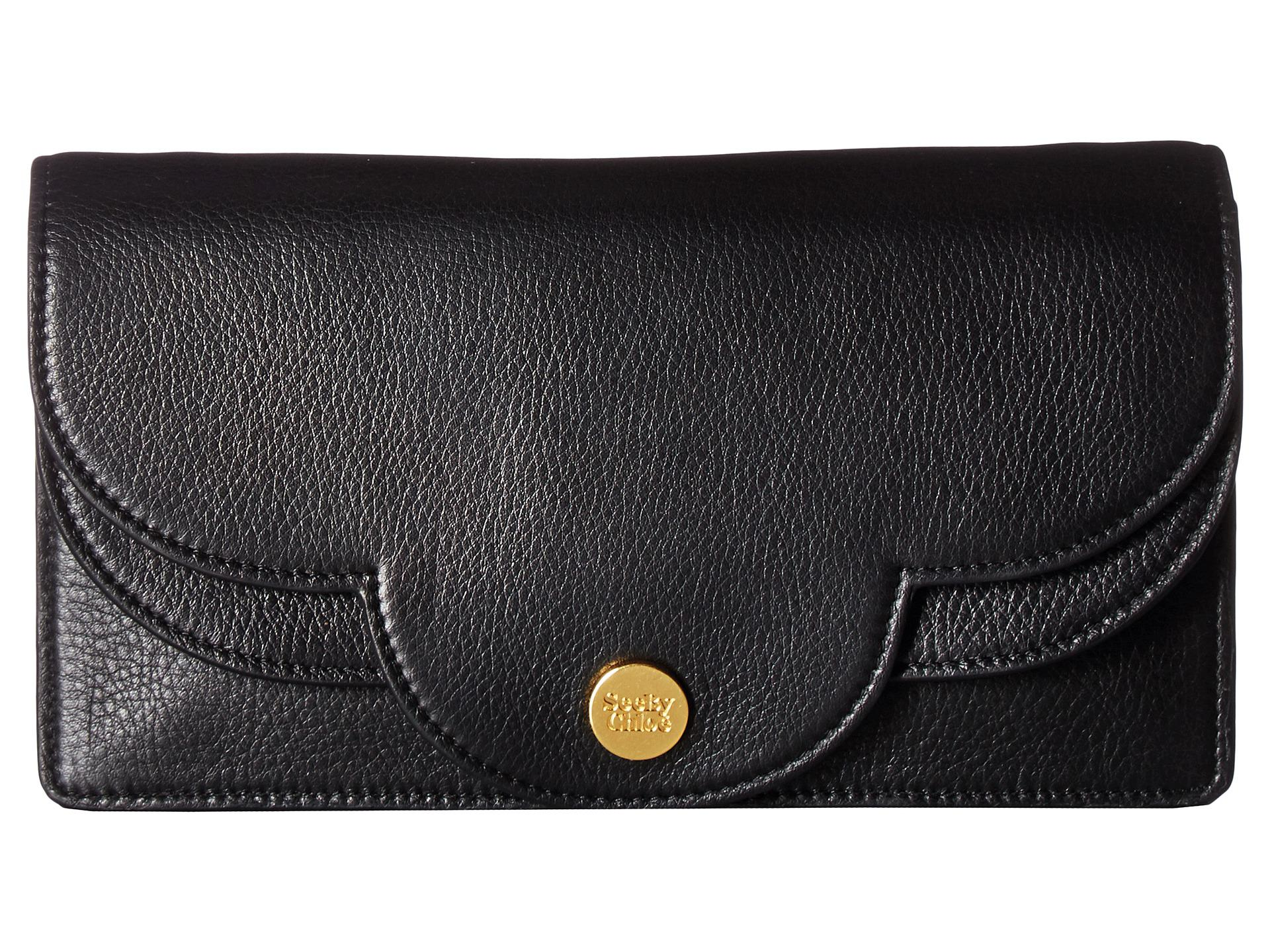Polina Wallet on Chain in Black Calfskin See By Chlo sXY390