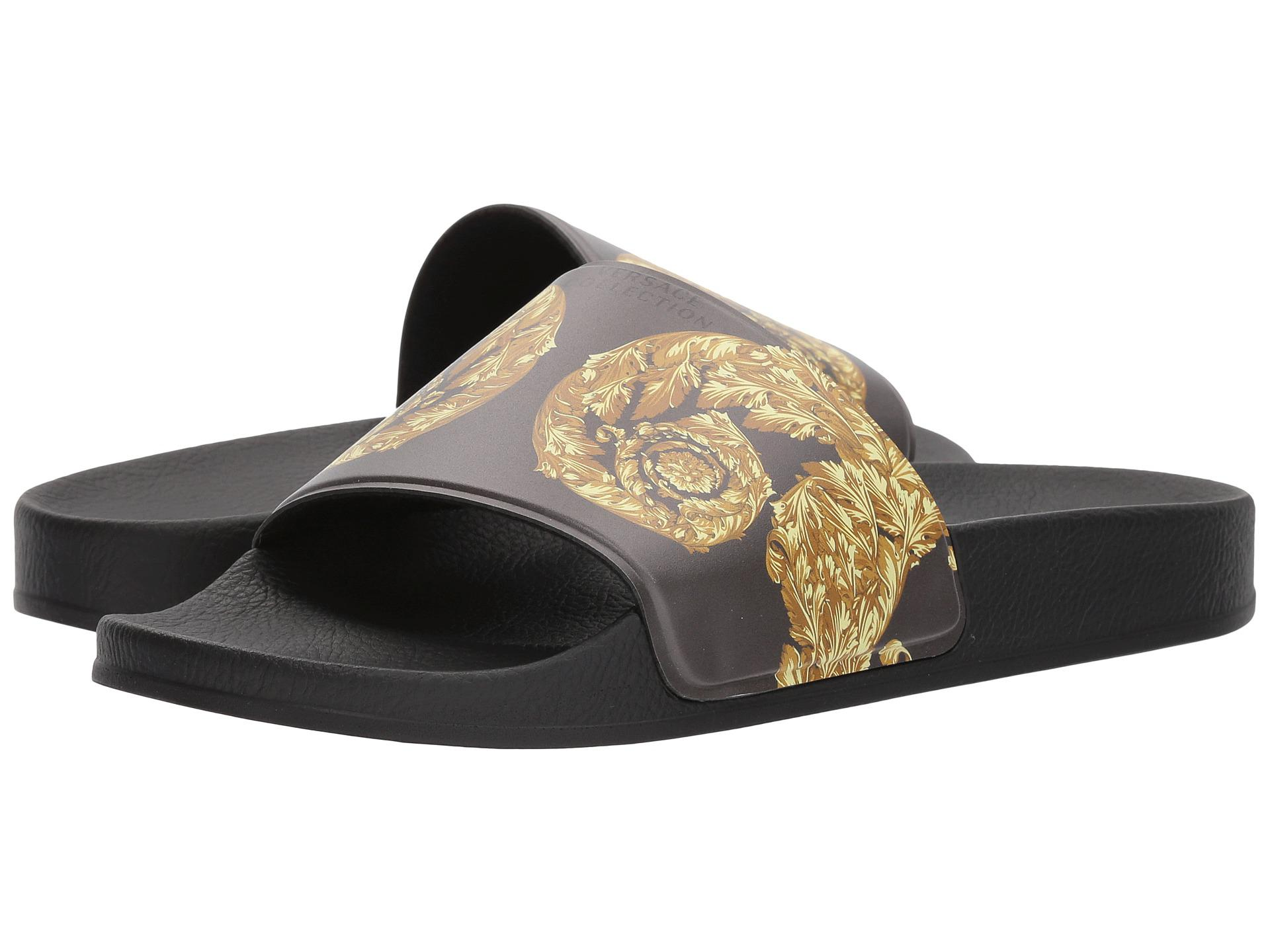 8005f44ac92c Gallery. Previously sold at  Zappos Luxury · Men s Slides Men s Versace  Baroque ...