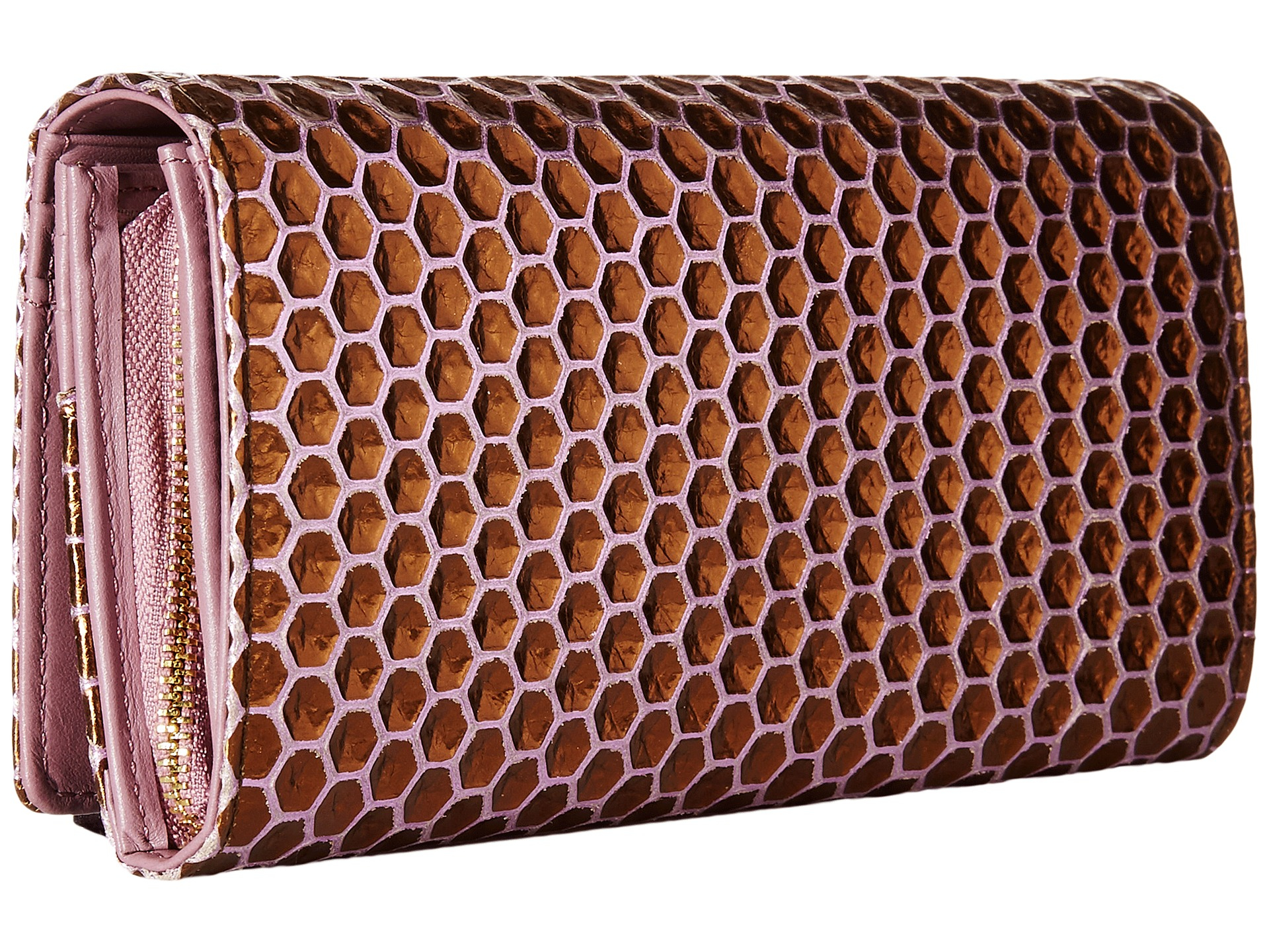b1b324f4ee Vivienne Westwood Braccialini Honey Comb Long Wallet With Chain in ...