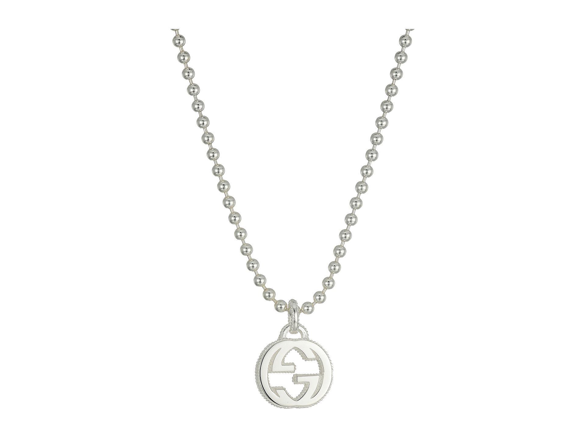 1919b93b7 Gucci 45cm Interlocking G Necklace in Metallic - Lyst