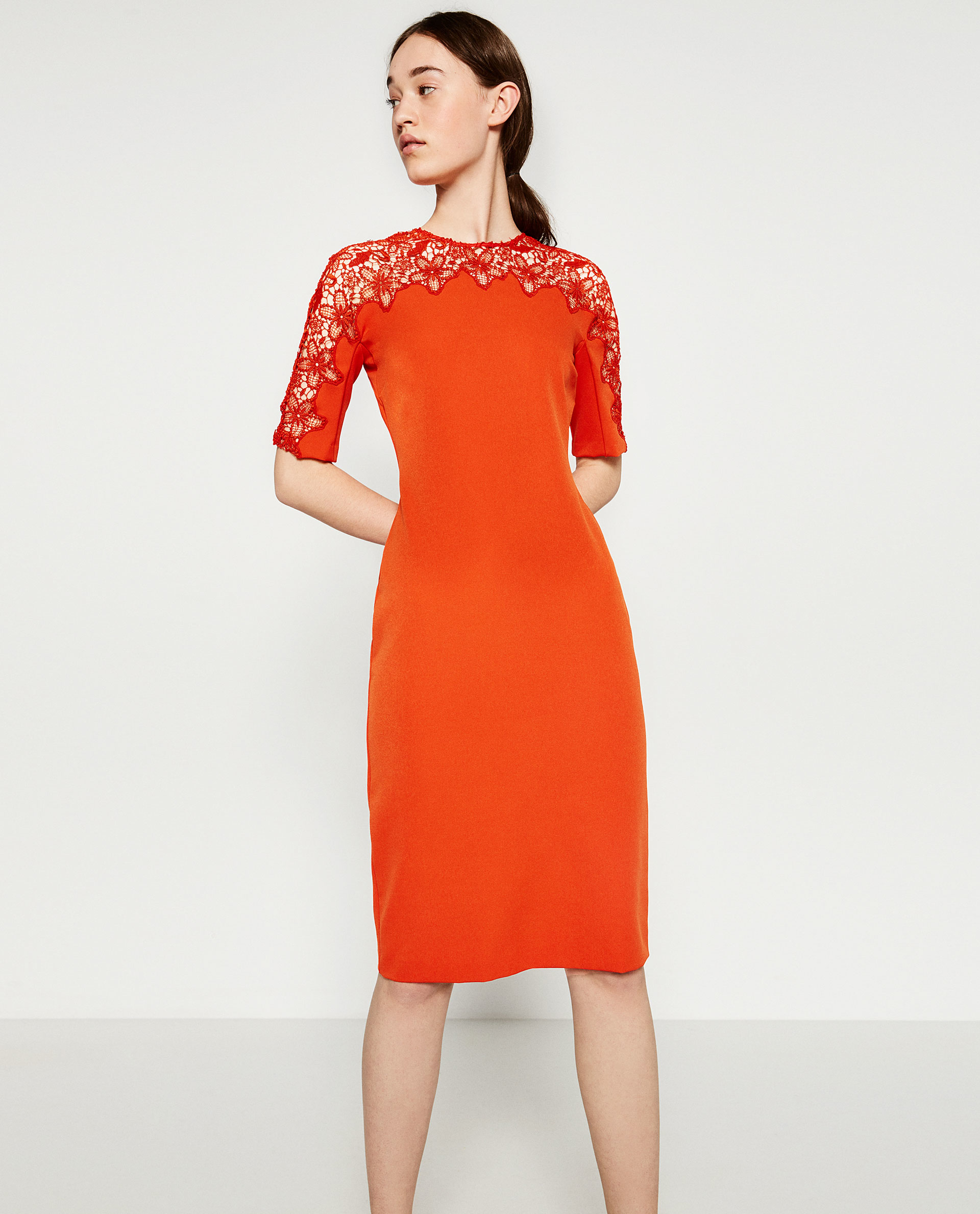 Unique ZARA  WOMAN  TRICOLOR MIDI DRESS  Zara  Pinterest