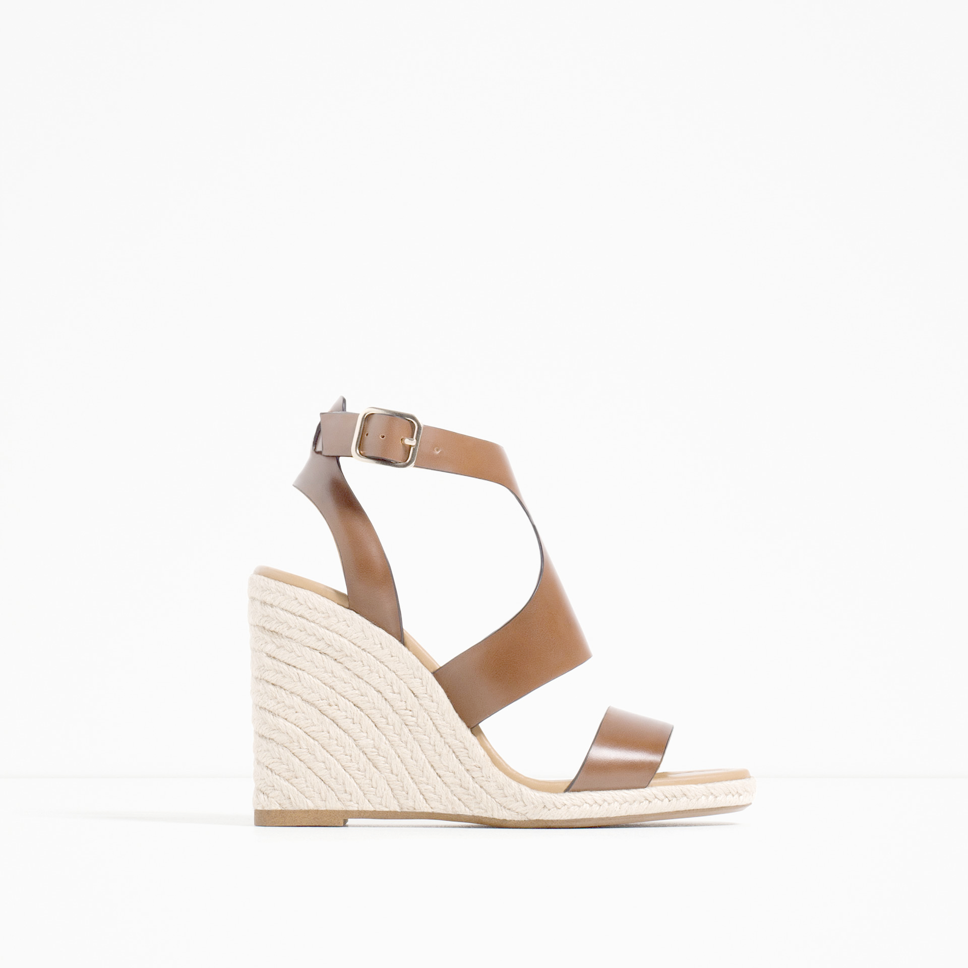 zara wedges with ankle in lyst