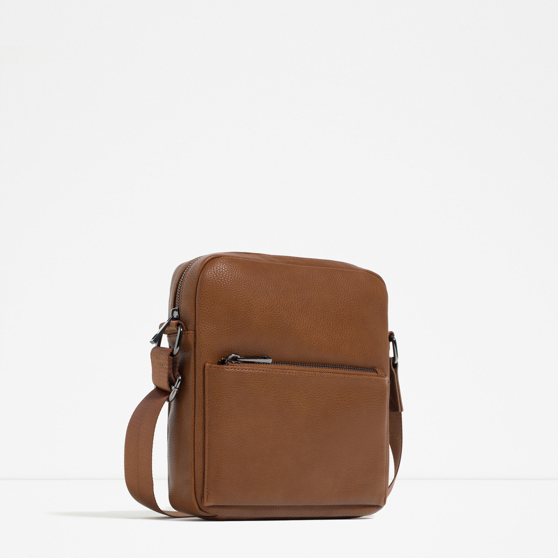 Zara Mini Brown Crossbody Bag In Brown For Men | Lyst