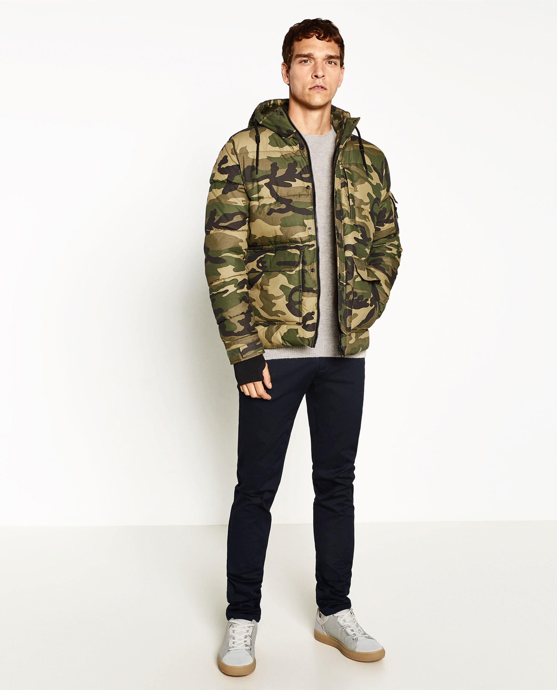Zara Camouflage Jacket for Men | Lyst