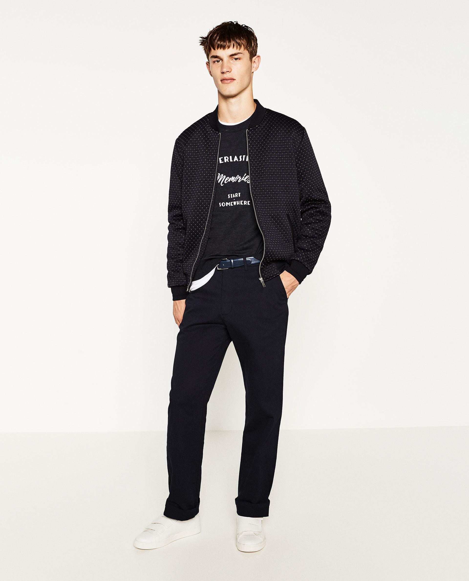 Zara Jacquard Jacket For Men Lyst