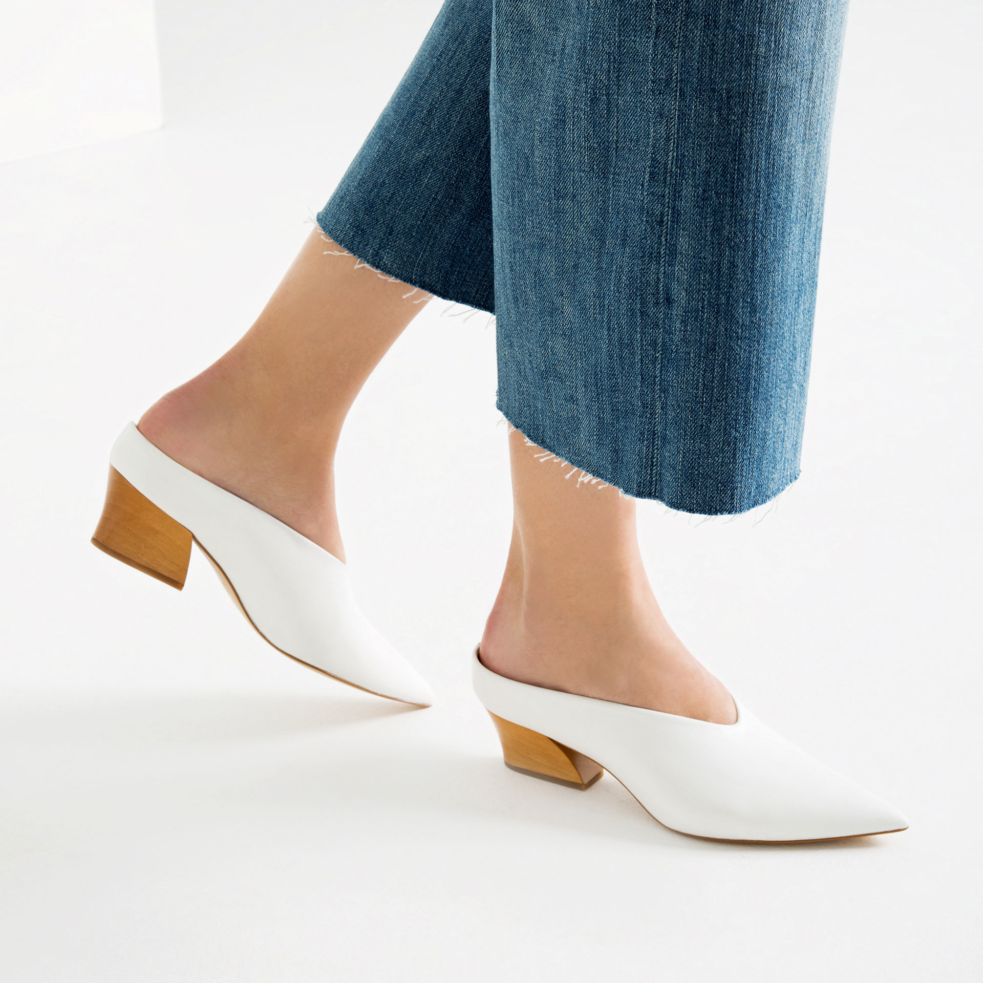 Zara Leather Mule Shoes