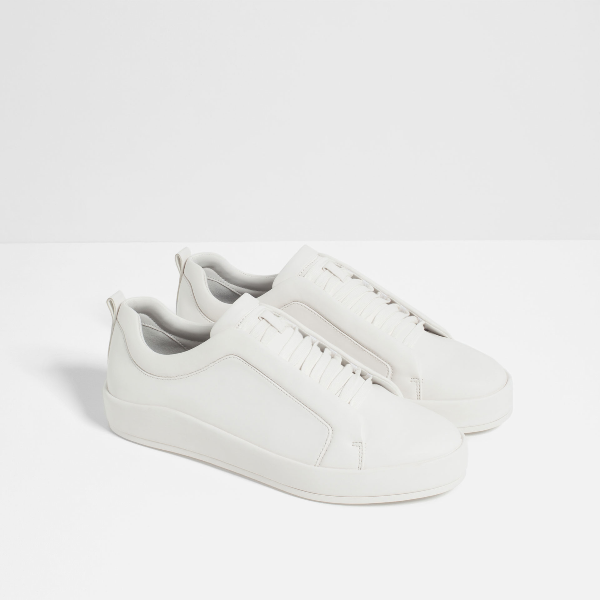 zara sneakers with elastic band in gray for lyst