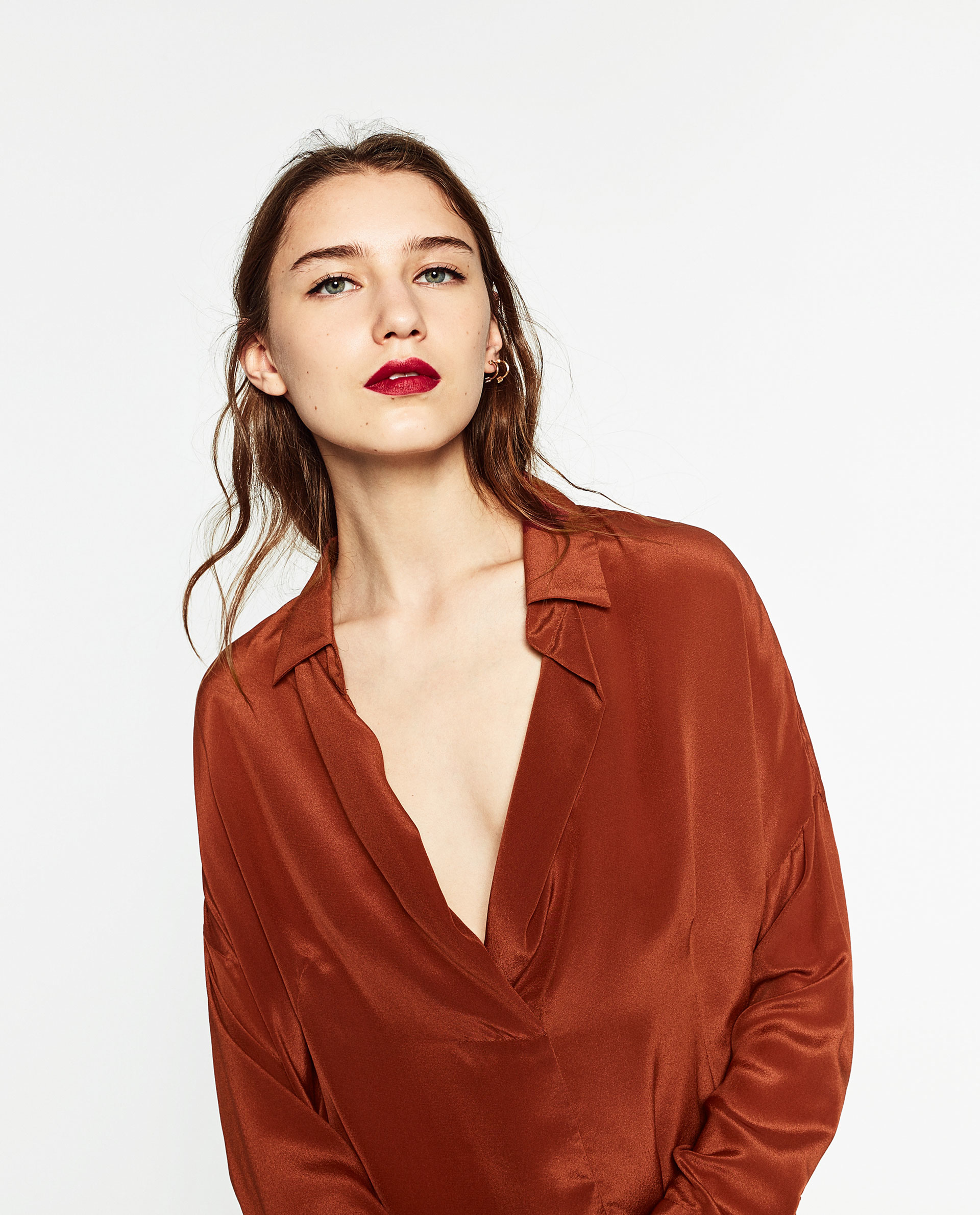 Zara Uk Silk Blouse 50