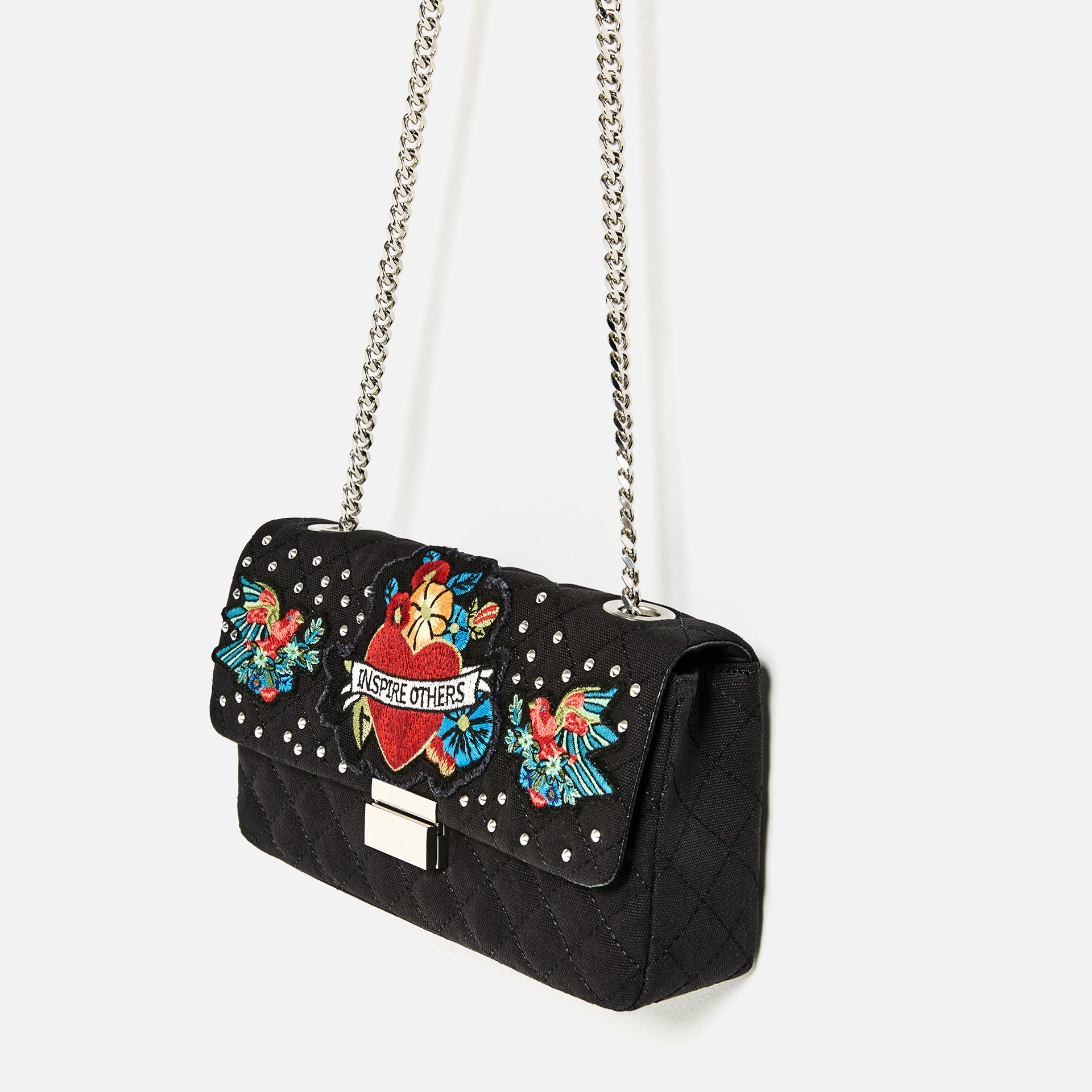 Zara Embroidered Detail Crossbody Bag | Lyst