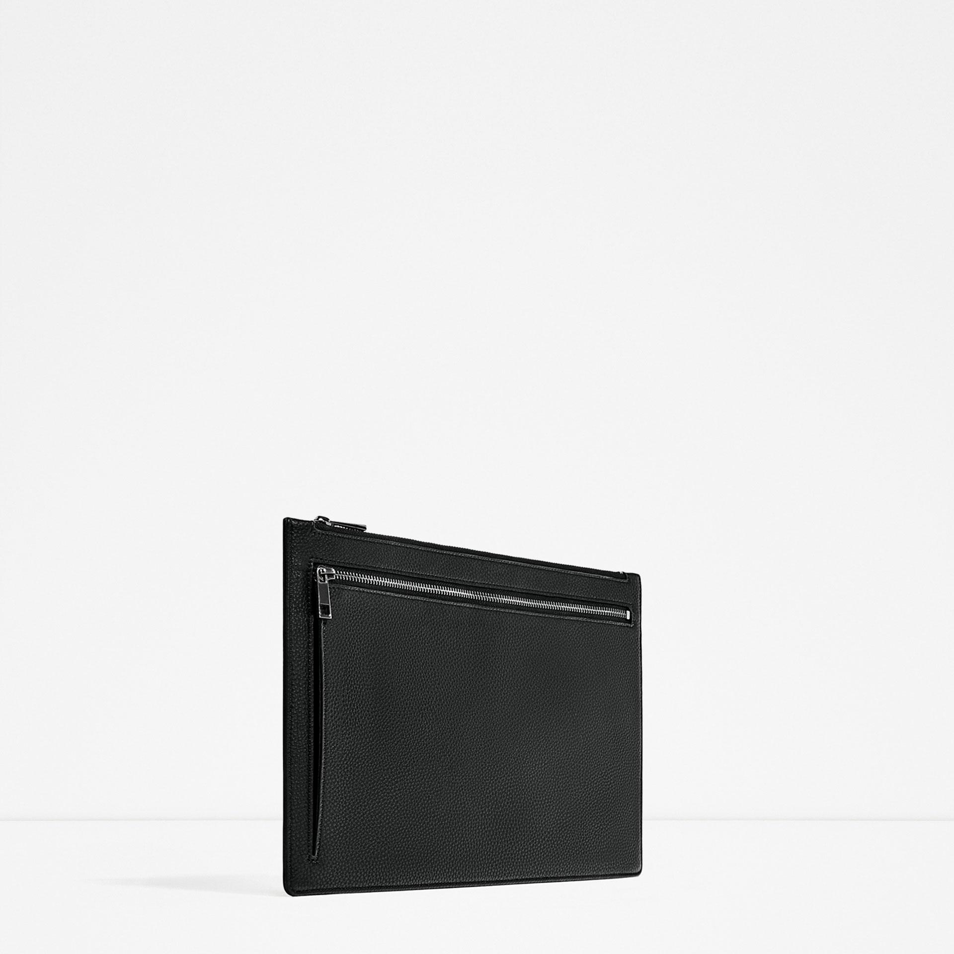 Man Cave Urban Zara : Zara urban portfolio in black for men lyst