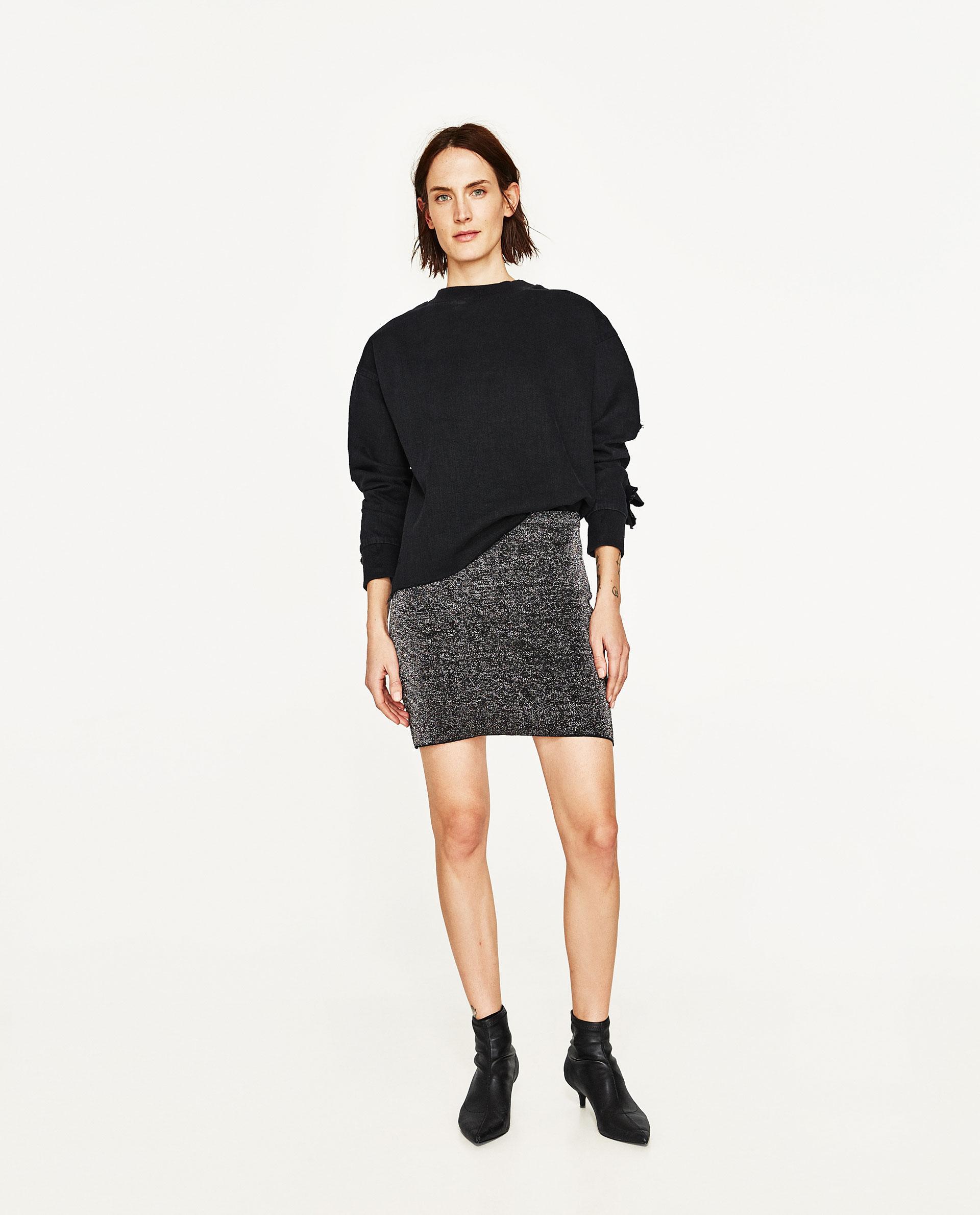 Shiny Mini Skirt 106