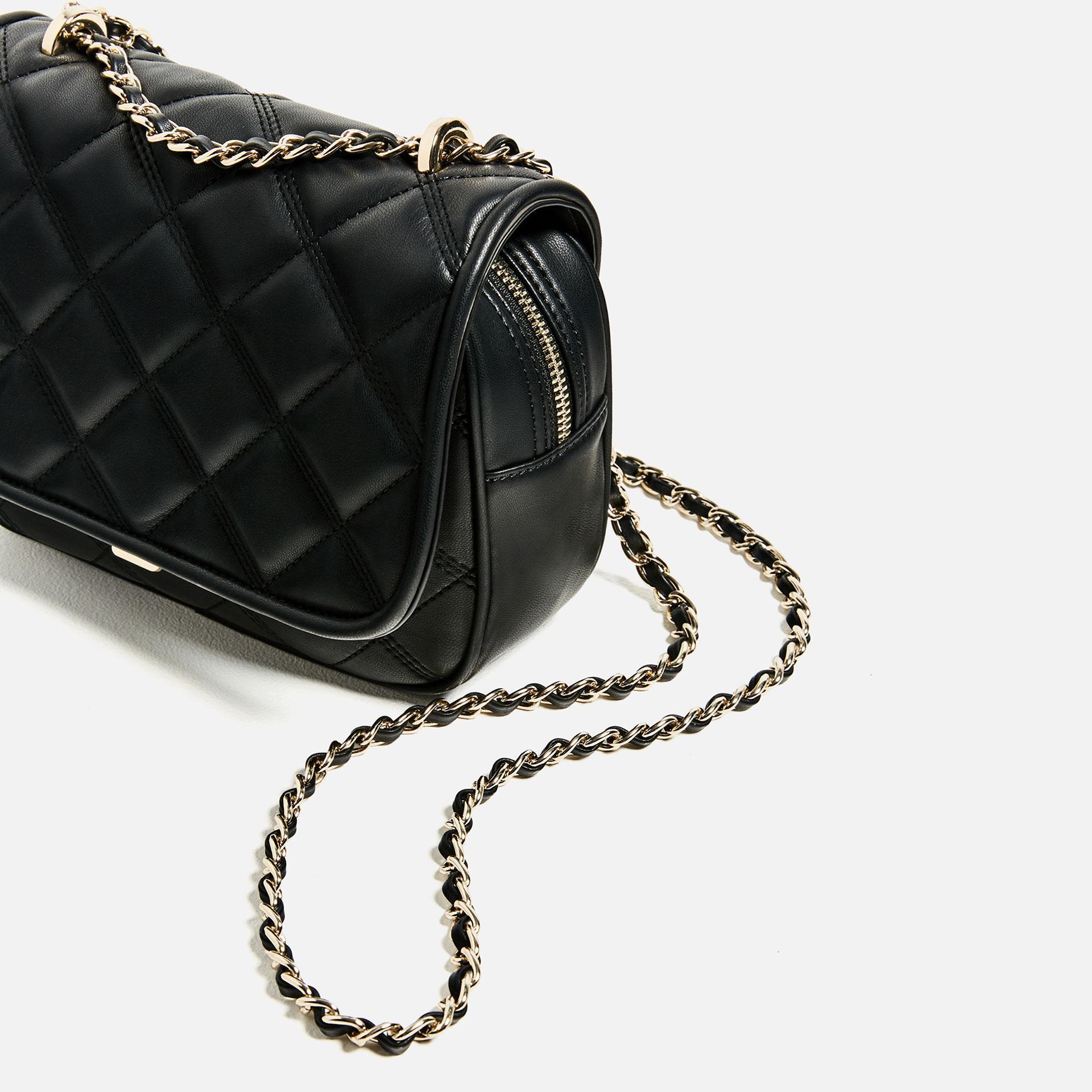Zara Quilted Crossbody Bag In Black Lyst