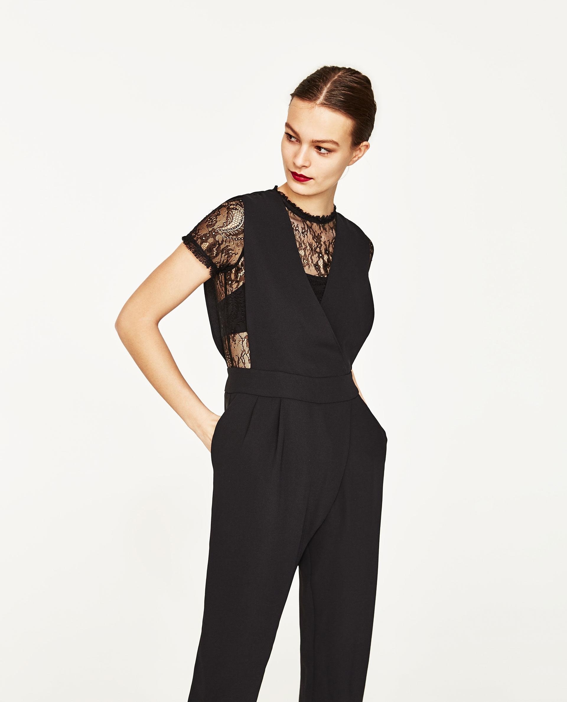 Creative Zara Backless Jumpsuit In Blue  Lyst