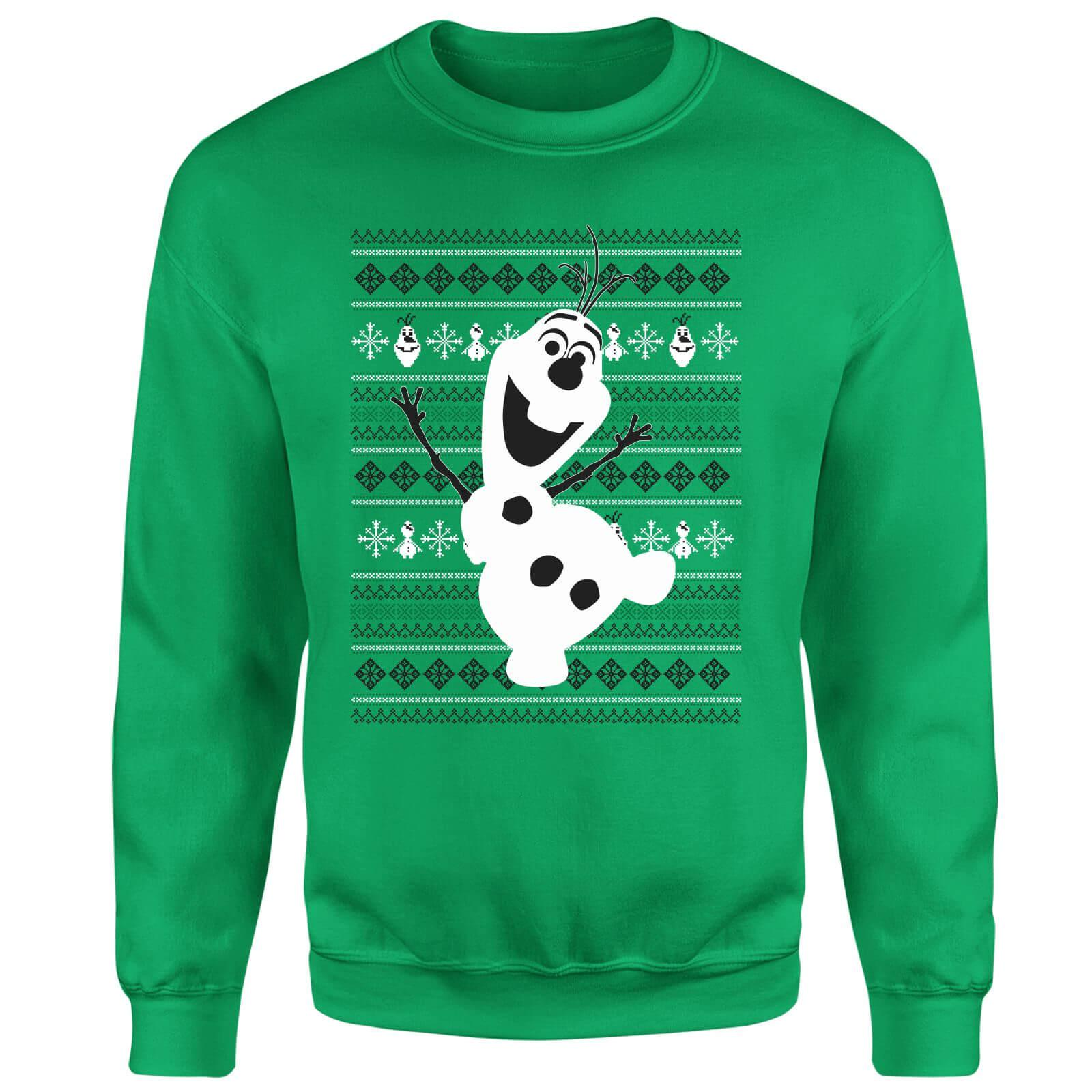 Disney Frozen Christmas Olaf Dancing Green Christmas Sweatshirt in ...