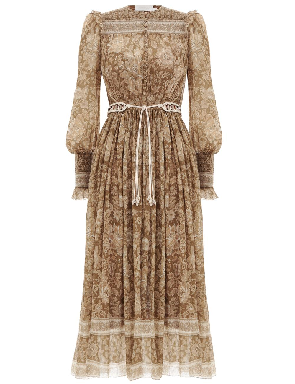 4a0badc842 Zimmermann. Women s Veneto Shirred Paisley Dress