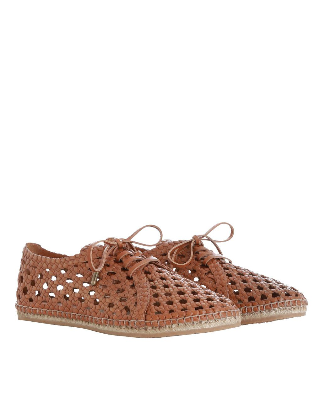 ZIMMERMANN Woman Woven Leather Platform Espadrilles Tan Size 40 In China For Sale Discount From China Clearance Great Deals OyKT4
