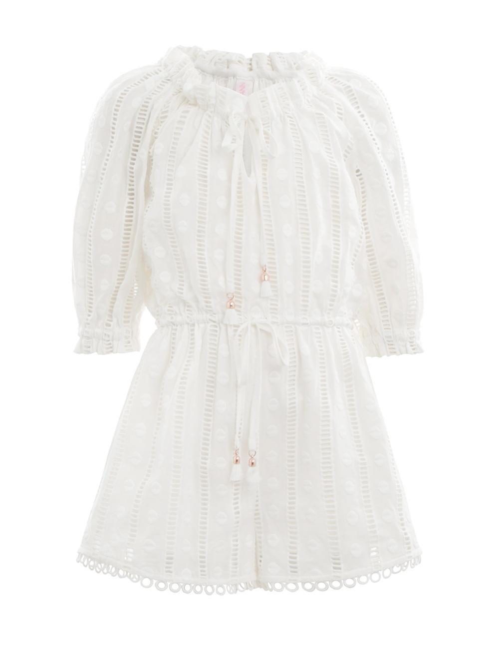 cb41cbe295 Lyst - Zimmermann Primrose Long Sleeve Playsuit in White