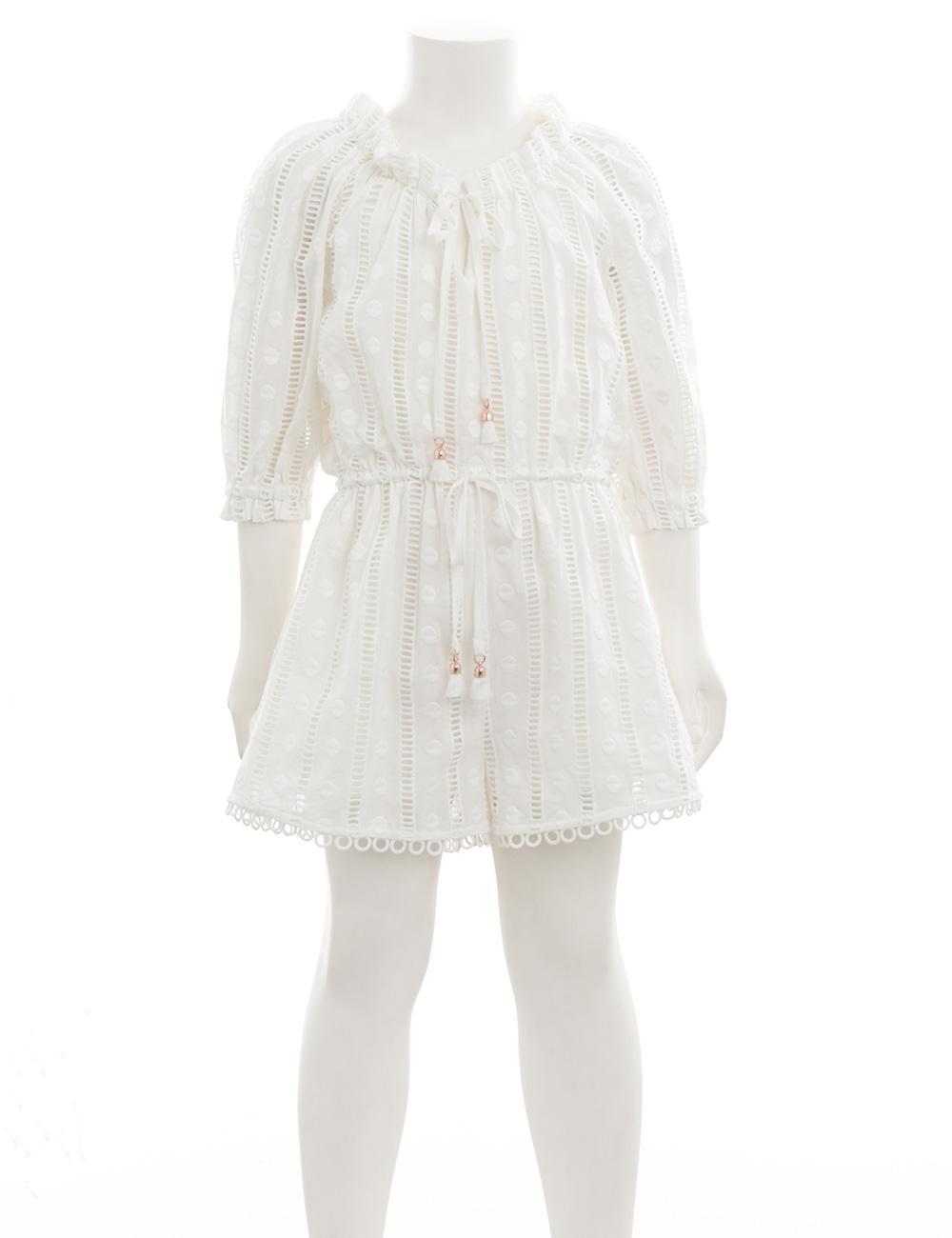 be8c7932018 Lyst - Zimmermann Primrose Long Sleeve Playsuit in White