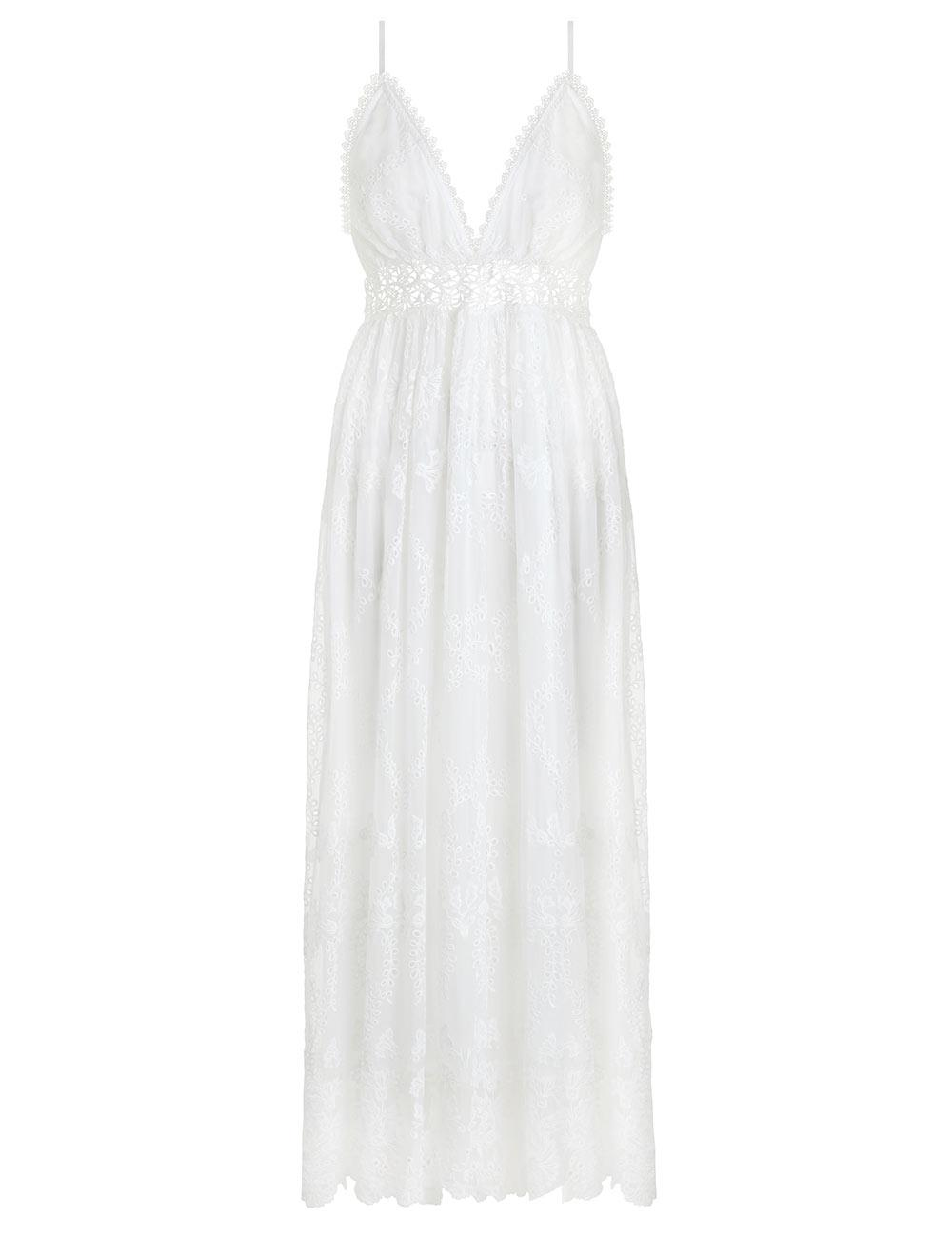 23a5a2cbd45 Lyst - Zimmermann Curacao Crinkle Dress in White