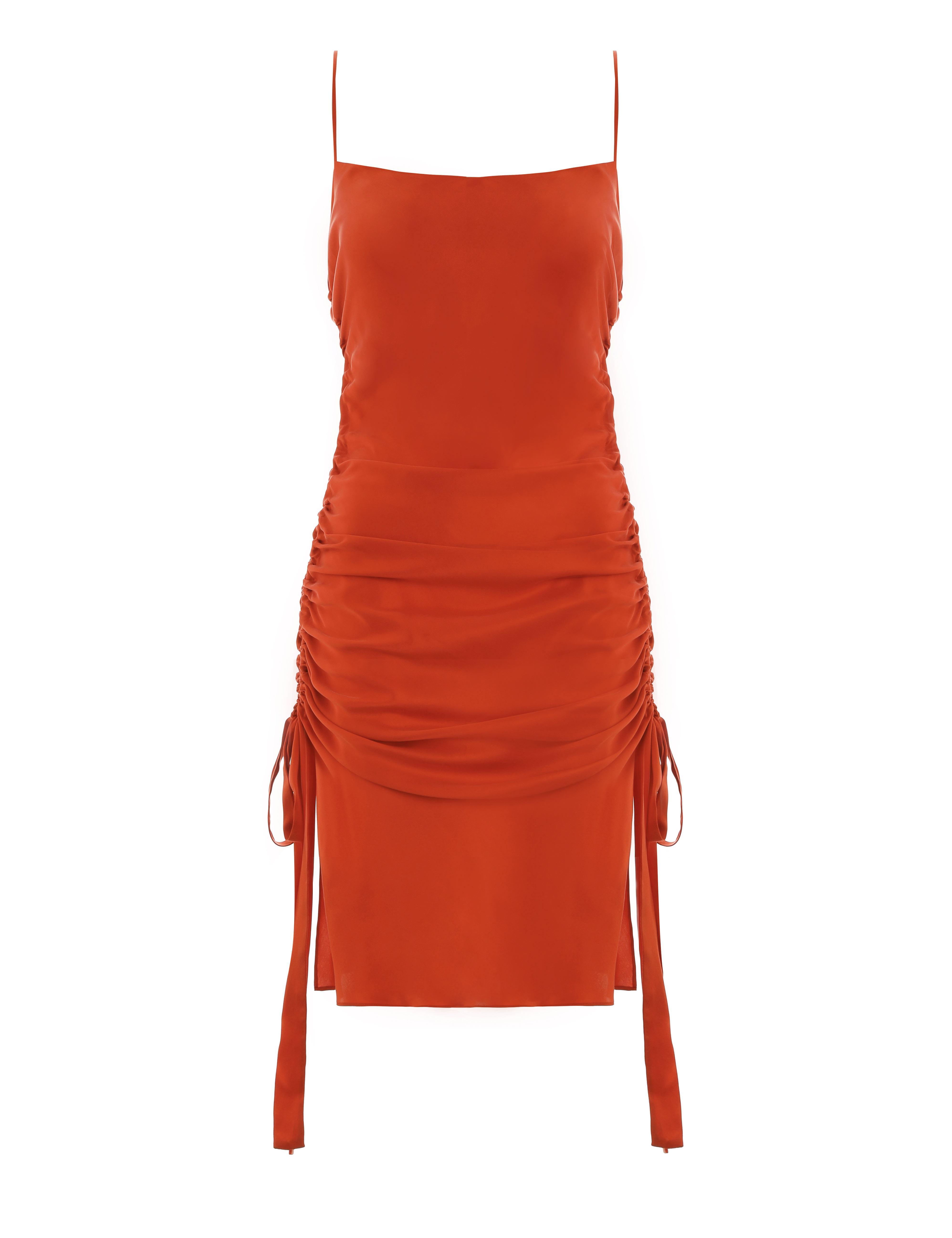 2d43b39c0bc Zimmermann Ruche Slip Mini Dress in Red - Lyst